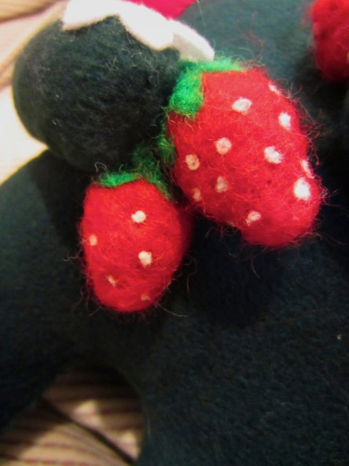 Needle-felted Strawberries